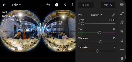 Edit the Z1 Raw DNG photos in Lightroom Mobile or other apps