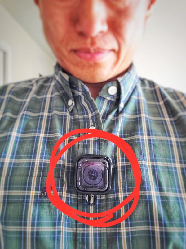 GoPro Hero Session sticks to Insta360 Go pendant!