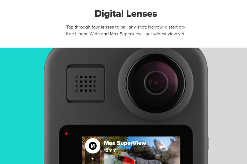 GoPro Max 4-in-1 lens