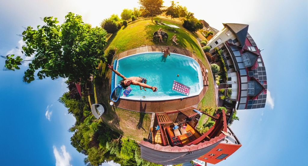 GoPro MAX sample photo in tiny planet format