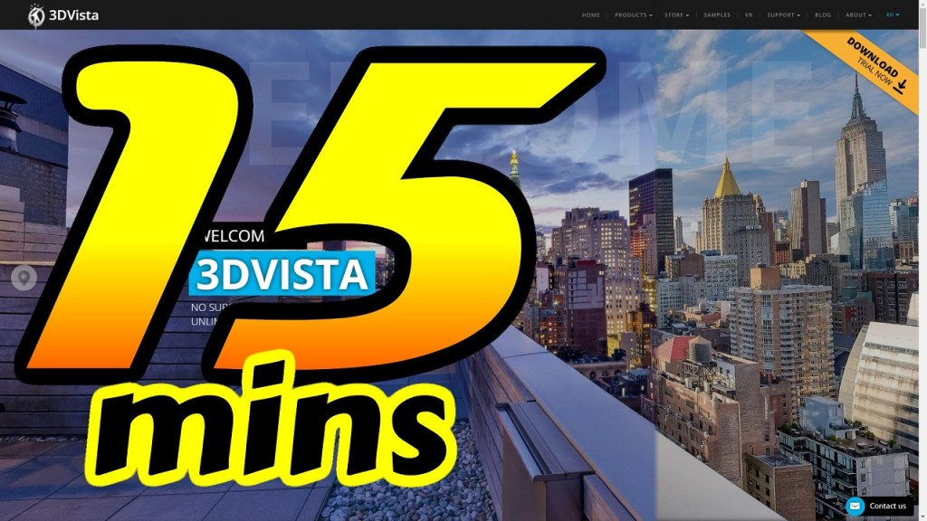 3DVista Beginner Tutorial: 15 minutes to create a Matterport-style virtual tour