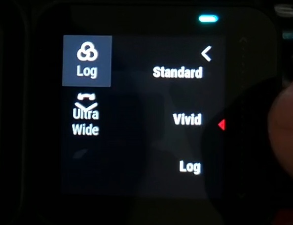 How to switch from Vivid mode to Standard or Log mode