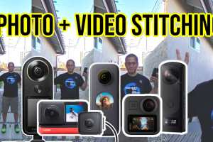 Photo and video stitching quality: Insta360 One X2 vs GoPro MAX vs Insta360 One R vs Qoocam 8K vs Theta Z1