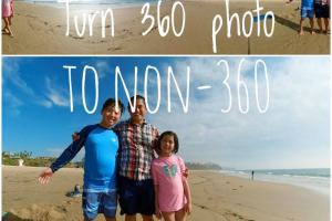 How to share 360 photos as non-360 photos