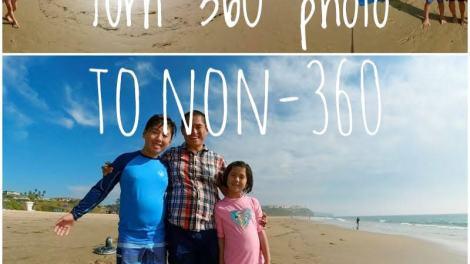 How to share 360 photos as non-360 photos