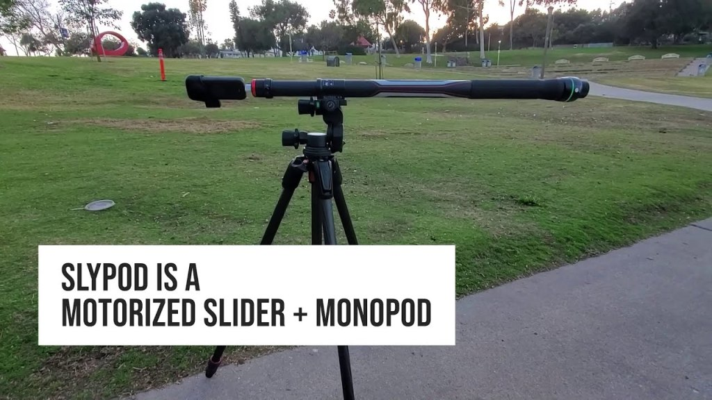 Slypod E is a motorized slider and monopod that's amazing with a 360 camera