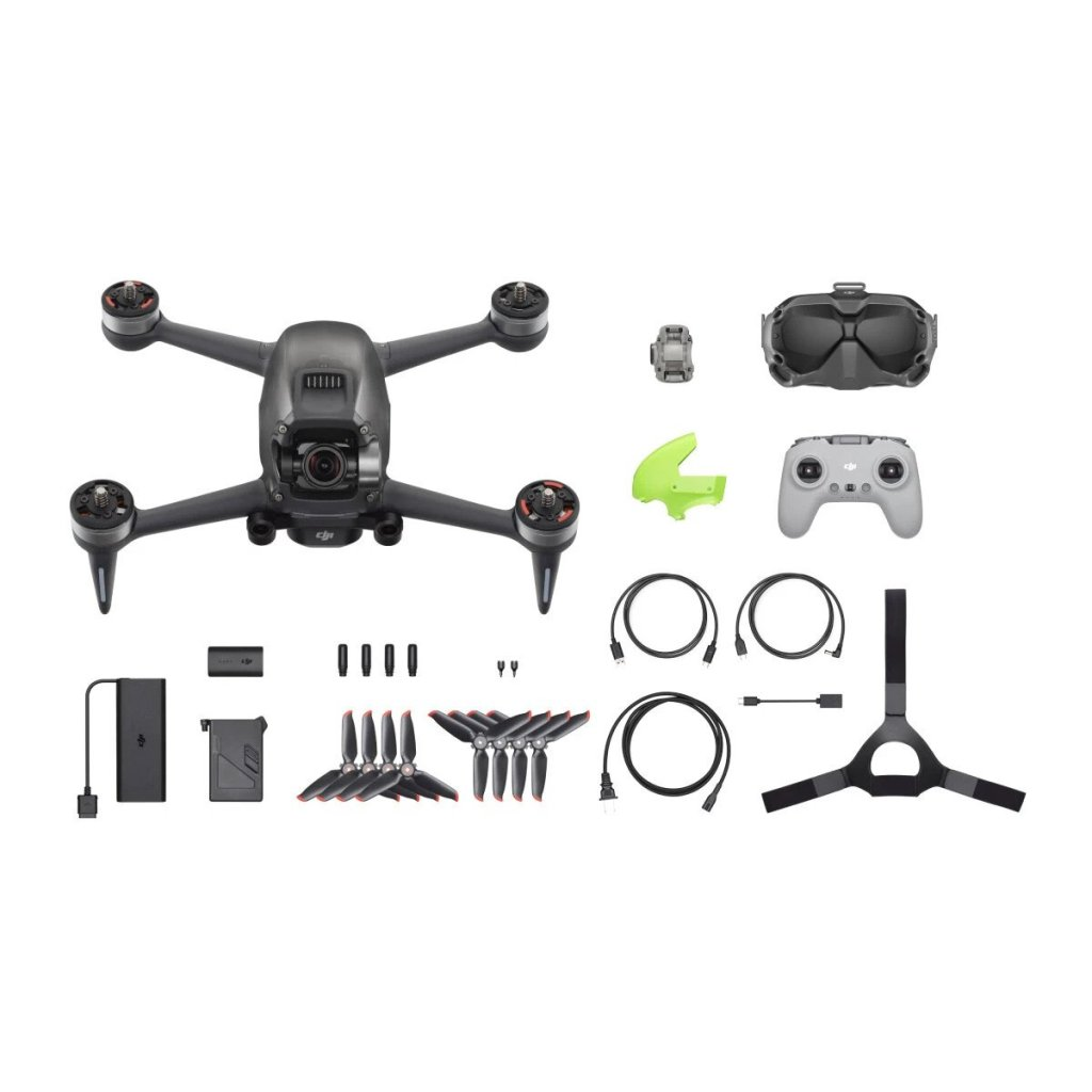 What's in the box? DJI FPV includes the drone, goggles, controller, and other accessories