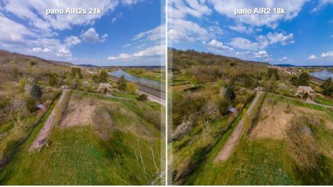 DJI Air 2S vs Air 2 comparison for 360 photos