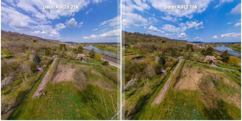 DJI Air 2S vs Air 2 comparison for 360 photos