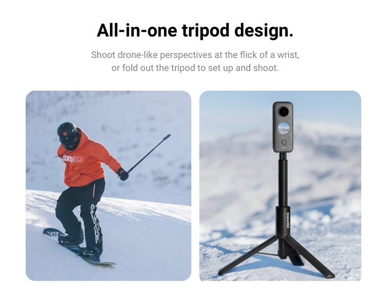 2 in 1 invisible selfie stick
