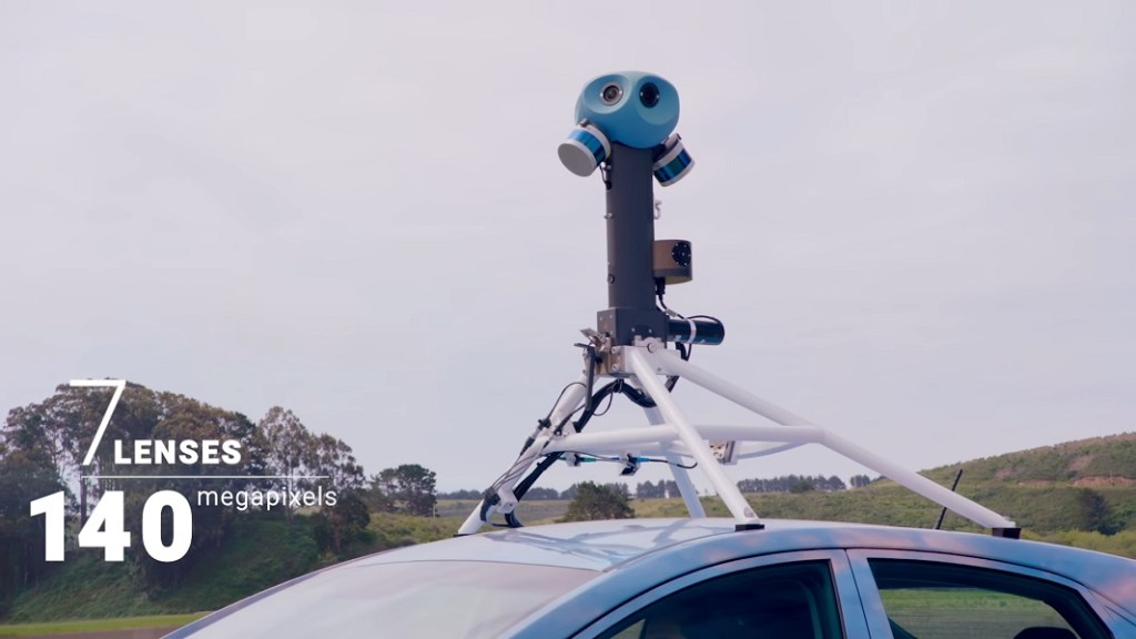 The Google Street View camera has seven sensors and captures 140 megapixel photos