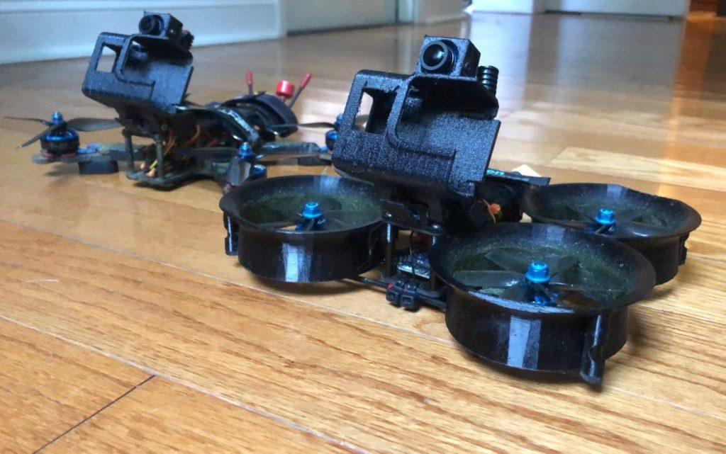Head tracking gimbal on FPV cinewhoop
