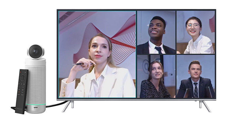 Meeting S can show several different speakers at once