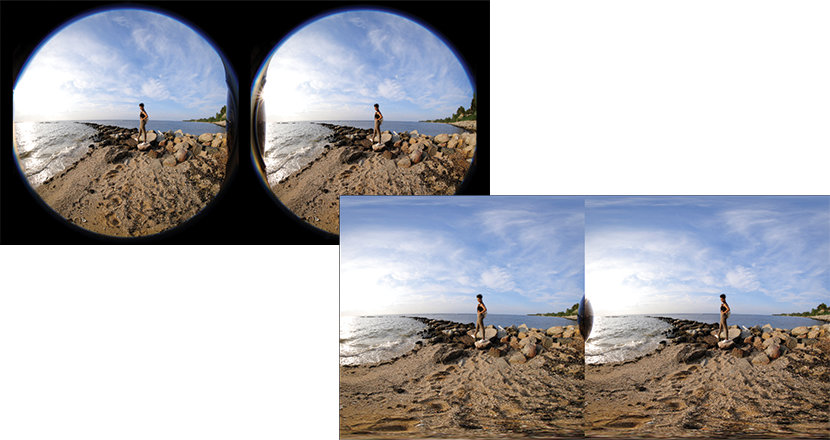 Canon's software will convert the dual fisheye into side by side equirectangular VR180 format