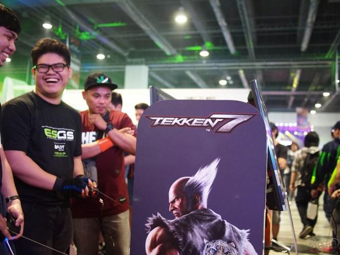 Tekken 7 at the Namco Bandai booth
