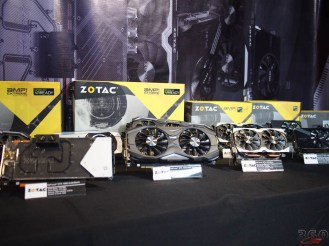 Zotac also out in force. Their tiny GTX 1070 looks great