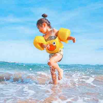 a girl in a beach
