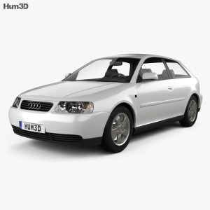 Audi A3 (8L) 3door 2003 3D model  Hum3D