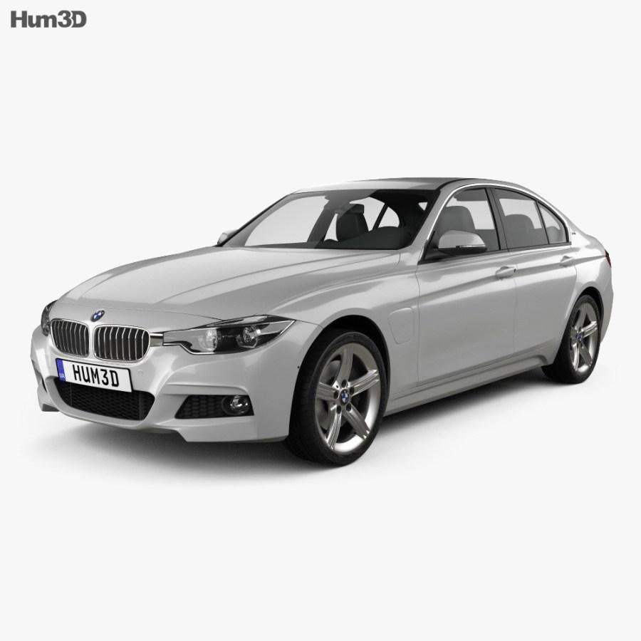 BMW 3 Series (F30) E 2016 3D model - Vehicles on Hum3D