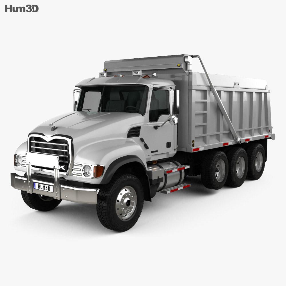 Mack Granite CV713 Dump Truck 2009 3D model - Vehicles on ... on Granite Models  id=78590