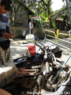 Tricycle refueling coke, Joke :)
