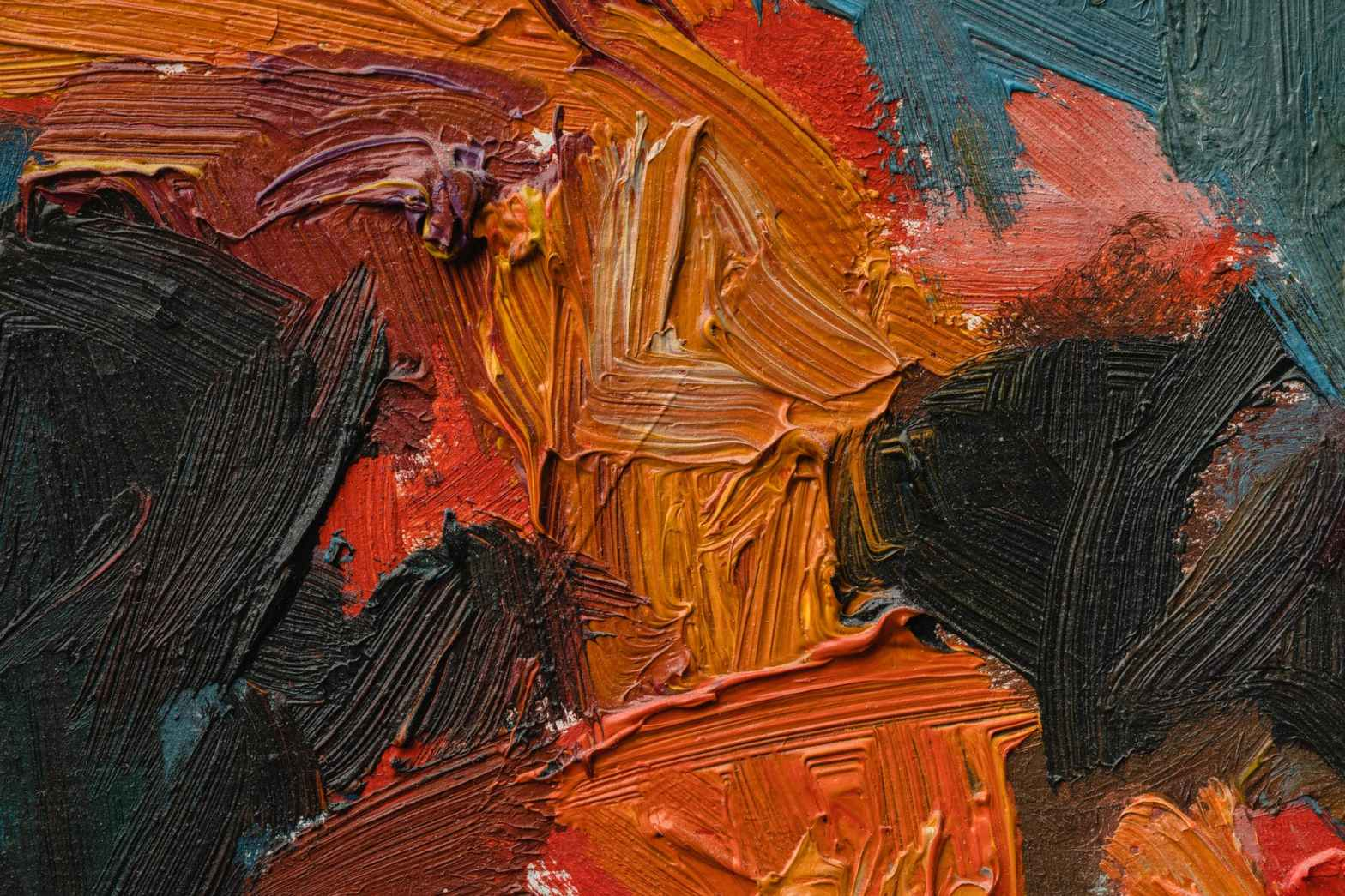 an abstract oil painting