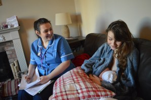 Post-birth chats with the midwives