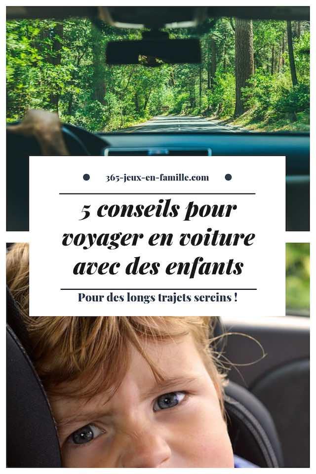 voyager en voiture avec des enfants, 5 conseils