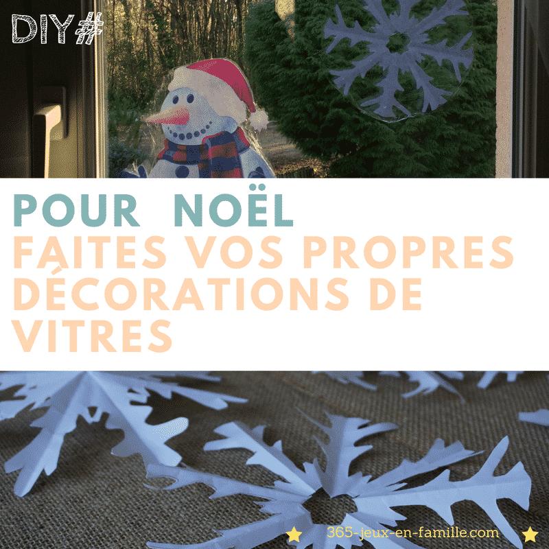 Pour Noël :  vos décorations de vitres faciles à faire !