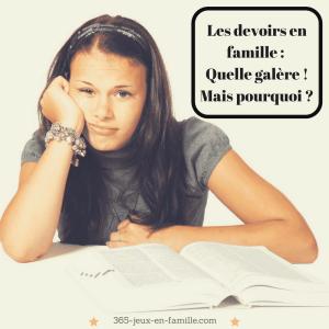 Les devoirs en famille: quelle galère! Mais pourquoi ?