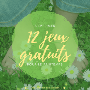 Read more about the article 12 jeux gratuits à imprimer pour le printemps