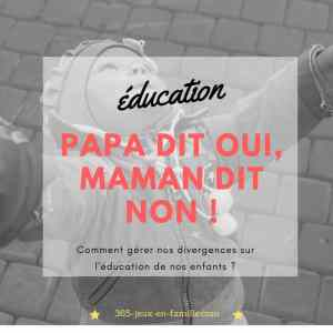 Read more about the article Education : papa dit oui, maman dit non