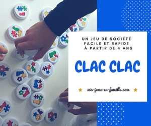 Read more about the article Un jeu de société à partir de 4 ans : Clac Clac
