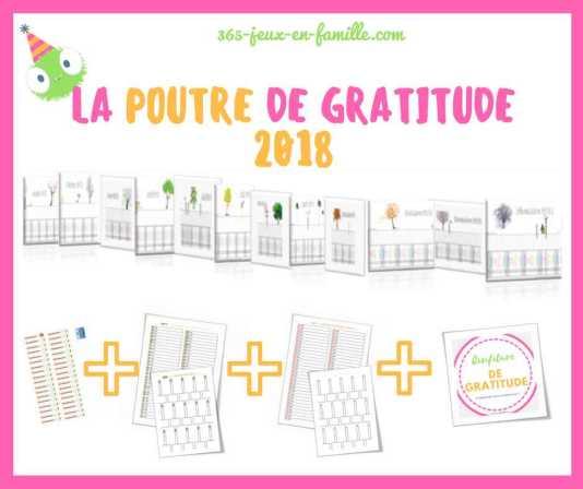 La poutre du temps de la gratitude 2018