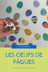 Les oeufs de Pâques : un jeu gratuit à imprimer !