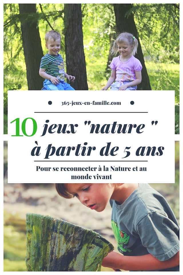 10 jeux nature à partir de 5 ans