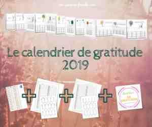 La poutre du temps 2019, calendrier de gratitude 2019