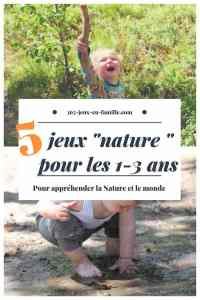 5 jeux nature pour les 1-3 ans