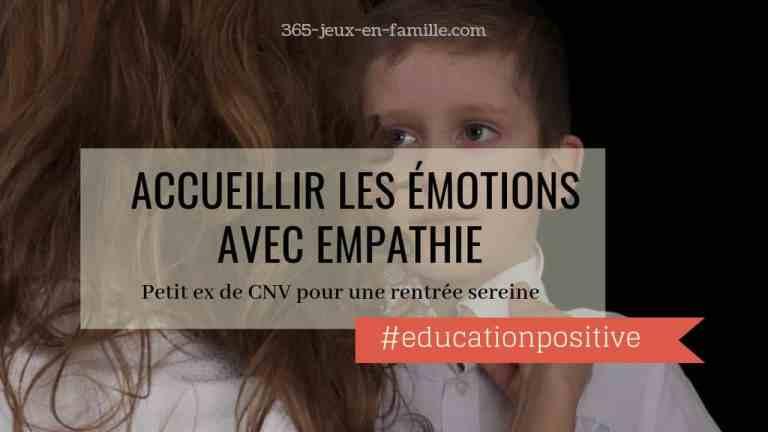 Accueillir les émotions avec empathie pour une rentrée sereine