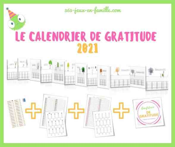 Le calendrier de gratitude 2021