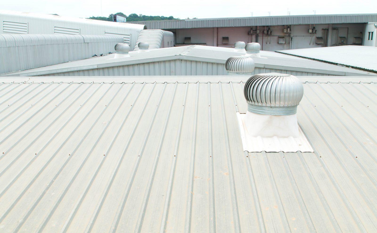 metal industrial roofing
