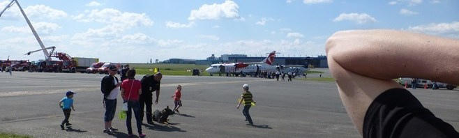 31.05.2014 Working at Airport open day for crew children