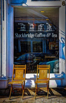 January sun at Stockbridge Coffee & Tea