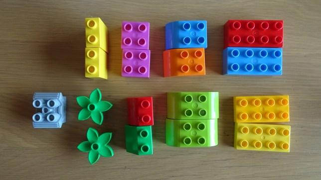 レゴで形当てゲーム(1)