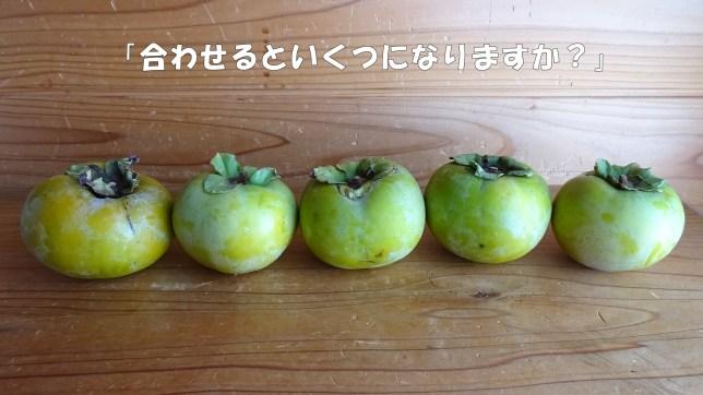 柿で足し算のお勉強(4)