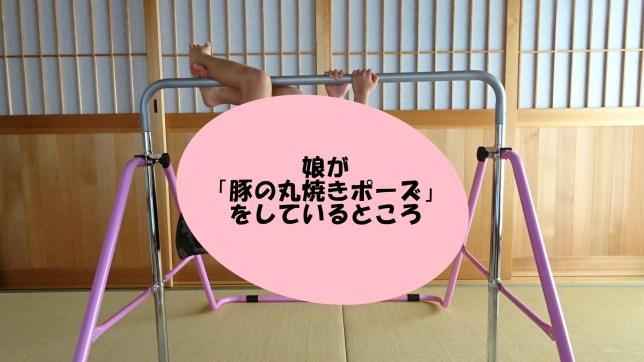 鉄棒で「豚の丸焼きポーズ」(2)