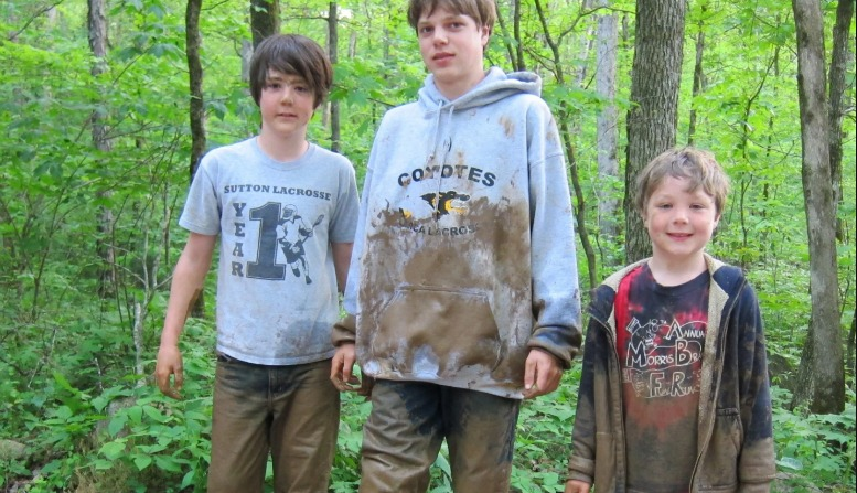 You get muddy when you go caving in Georgia