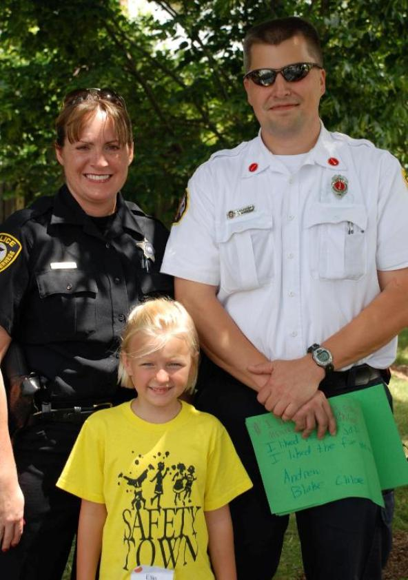 Barrington Safety Town Camper with Police Officer and Fireman