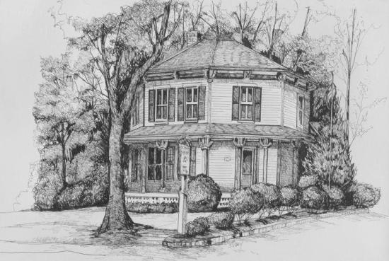 Octagon House in Barrington, Illinois