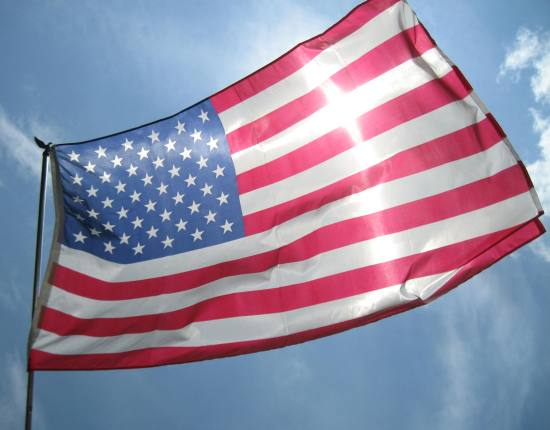 American Flags in Barrington, Illinois